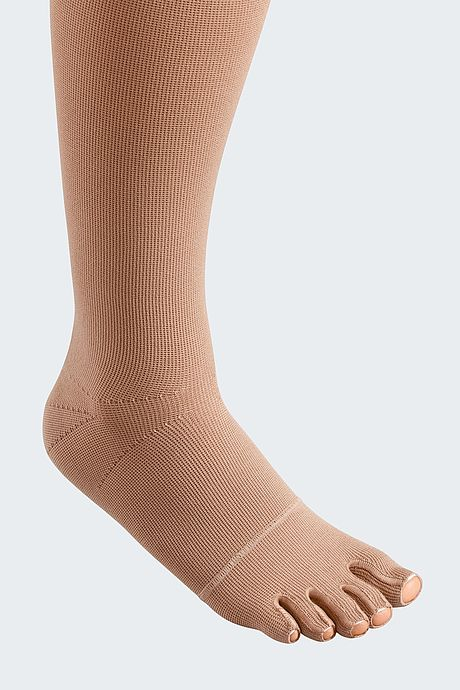 mediven mondi compression stockings sewed toe cap caramel