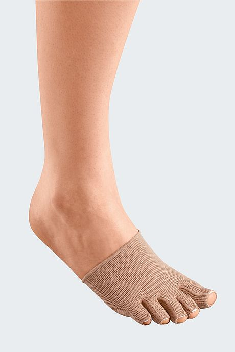 mediven mondi compression stockings single toe cap caramel