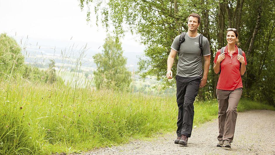 Woman man hiking Outdoor