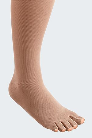 mediven 550 leg compression stockings toes cap caramel